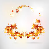 Abstract frame of autumn leaves Royalty Free Stock Photo