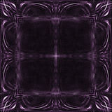 Abstract frame background. Abstract computer generated purple frame Royalty Free Stock Image