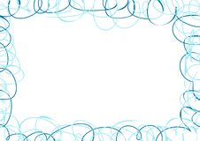 Abstract frame with blue scribbles Stock Photos