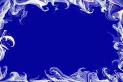 Abstract frame with blue space for text Stock Image
