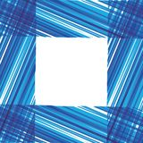 Abstract  frame. Blue stripes design. Royalty Free Stock Photography