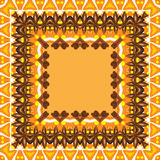 Abstract  frame, cinnamon and oranges Royalty Free Stock Image