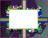 Abstract frame with colorful squares Stock Photo