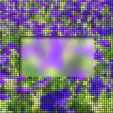 Abstract frame with column mosaic. Abstract background with colorful floral mosaic frame Royalty Free Stock Images