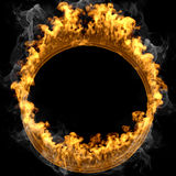 Abstract frame design flames and fire Stock Photos