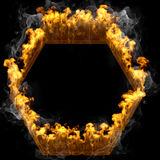 Abstract frame design flames and fire Stock Photography