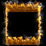 Abstract frame design flames and fire Stock Photo
