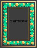 Abstract frame for the design of invitations, greetings, advertising. Design in the form of confetti. Vector. royalty free illustration