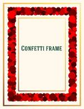 Abstract frame for the design of invitations, greetings, advertising. Design in the form of confetti. Vector stock illustration