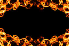 Abstract frame from fire smoke with copy space Stock Image