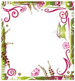 Abstract frame, floral Royalty Free Stock Image