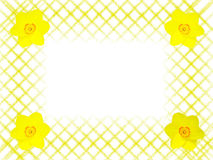 Abstract Frame With Flowers Stock Photo
