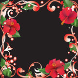 Abstract frame with flowers. Royalty Free Stock Photos