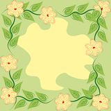 Abstract frame with flowers. And leaves stock illustration
