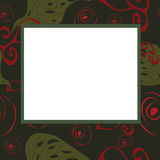 Abstract frame with green and red elements Stock Image