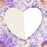Abstract frame for greeting card heart Royalty Free Stock Image