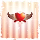 Abstract Frame and Heart Royalty Free Stock Photography