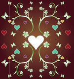 Abstract frame with hearts Stock Photo
