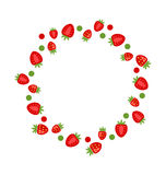 Abstract Frame Made of Strawberry Royalty Free Stock Photography