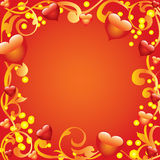 Abstract frame met harten. Royalty-vrije Stock Afbeeldingen