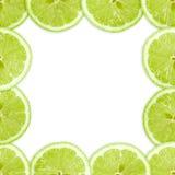 Abstract frame met kruis van kalkfruit Royalty-vrije Stock Afbeeldingen