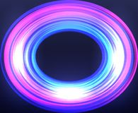 Abstract frame with neon oval on black background. Vector illustration for your graphic design Royalty Free Stock Photo