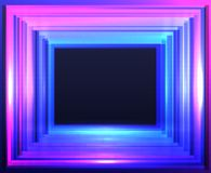 Abstract frame with neon squares on black background. Vector illustration for your graphic design Stock Photography