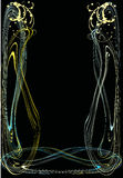Abstract frame op zwarte Vector Illustratie