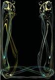 Abstract frame op zwarte Stock Foto's