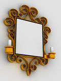 Abstract frame, ornament. Very beautiful three-dimensional illustration, figure Stock Image