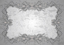 Abstract frame with pearls Stock Images