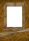 Abstract frame for photo or  greeting with ribbons Stock Image