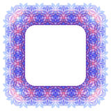 Abstract frame in pink and purple colors. Abstract background with geometric shapes in pink and purple colors. Vector frame Stock Photos