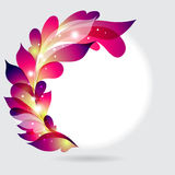 Abstract frame with purple leaves Stock Photography