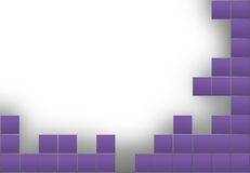 Abstract frame with purple squares Stock Photo