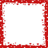 Abstract frame with red hearts Stock Images
