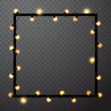 Abstract frame with retro light bulbs, vector illustration vector illustration