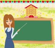 Abstract frame school - teacher and blackboard Stock Photos