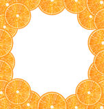 Abstract Frame with Sliced Oranges Stock Photography