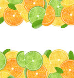 Abstract Frame with Sliced Oranges stock illustration