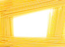Abstract frame of spaghetti. Isolated on white background Stock Photography