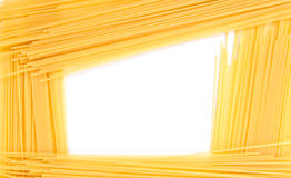 Abstract frame of spaghetti. Isolated on white background Royalty Free Stock Image
