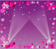 Abstract frame with spotlights royalty free illustration