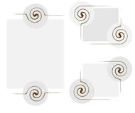 Abstract frame with twirl elements. Vector illustration Royalty Free Stock Image