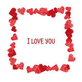 Abstract frame.  Valentines Day design Royalty Free Stock Photography