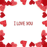 Abstract frame.  Valentines Day design Royalty Free Stock Image