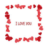Abstract frame.  Valentines Day design Stock Image