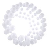 Abstract frame of white beads Stock Images