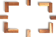 Abstract frame wood Stock Image
