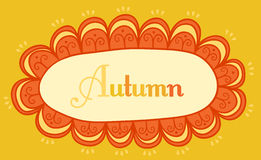 Abstract frame for your text. Autumnal theme header. Vector bann Stock Images